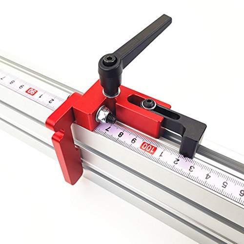 su-luoyu 75 tipo de ranura en T de aluminio para trabajos de madera, sierra de mesa, ranura en T para trabajos de madera, banco de trabajo para vallas, con rieles en T