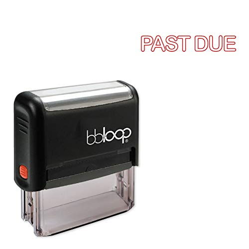 Past Due w/Round Outline Style Font and Design Self-Inking Rubber Stamp