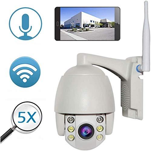 Bewakingscamera's Outdoor-bewakingscamera, 1080P WiFi-draadloze camera, bewakingscamera's, huiswaterdichte wifi, webcam, 360 draaiende hemisfeer camera (kleur: wit), wit