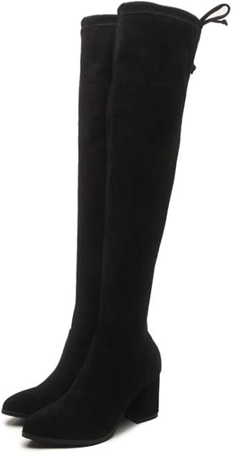 Over-The-Knee Boots, Thin-Legged and Long-Legged Stretch Boots, Ladies' Slim Boots,35
