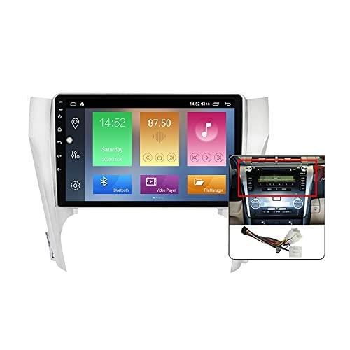 9 pollici Android 10 Car Stereo Doppio Din GPS Autoradio per Toyota Camry 7 XV 50 55 2014-2017 Built-in Carplay Support 5G WiFi Split Screen/Controllo Volante/Telecamera Posteriore