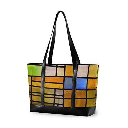 XiangHeFu Lässige Glasfenster Fenster Computer große Kapazität Einkaufstasche Schulter Mode Handtasche