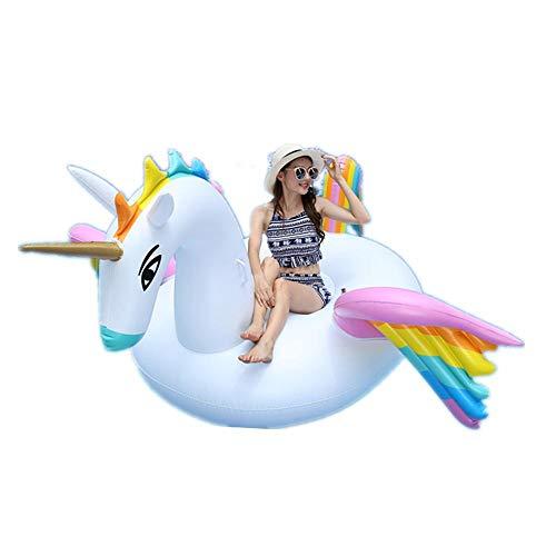 ZBNMGHFT Color Inflable Pegasus Flotante Fila Soporte Adulto Reclinación De Agua Reclinación Inflable Material De PVC Engrosado para Varias Actividades De Agua 250 × 250 × 140 Cm