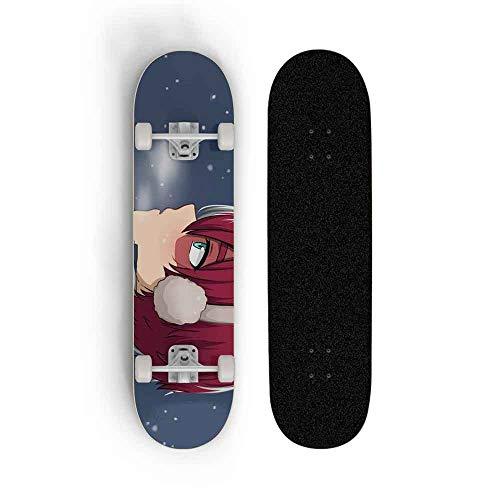 Kssmice Skateboards, My Hero Academia: TODOROKI SHOTOS, Patinaje de doble inclinación de...