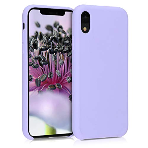 kwmobile Hülle kompatibel mit Apple iPhone XR - Handyhülle gummiert - Handy Hülle in Lavendel