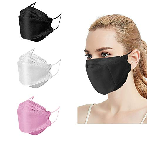 30Pcs KF94 Face_Mask,Adult Black White Pink Multicolor Combinations 4 Layers Non-woven Face Protection Covering,FDẴ Certified Coronàvịrụs,Comfortable & High Filtration &Ventilation&Prevent Fogging