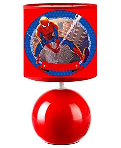 PRESENT Lampe de chevet Spiderman - création artisanale collage photo. Personnalisé avec le prénom