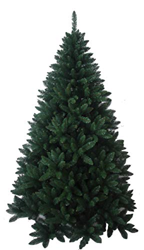 EAC Albero di Natale Frosty Green Verde Super Folto Rami Ombrello (210 cm)
