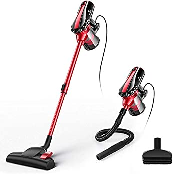 Moosoo 4 in 1 Corded Stick Vacuum with HEPA Filters