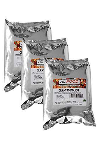 Cilantro en polvo - 3kg - Semillas de cilantro puro molido - Coriandrum Sativum aromático para cocinar y hornear