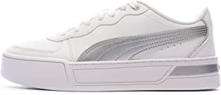 PUMA Baskets Blanches Femme Skye Silver
