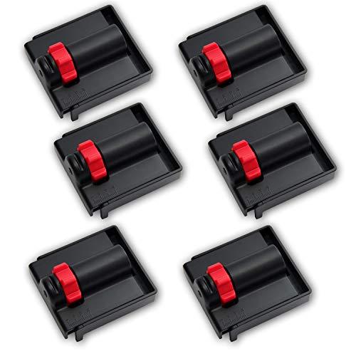 WeLiQu® Abstandhalter 5-20mm - 6 Stück - Der einstellbare Abstandskeil zur Verlegung von Parkett, Laminat und Vinyl - Nie mehr verrutschende, kippende Montagekeile/Holzkeile