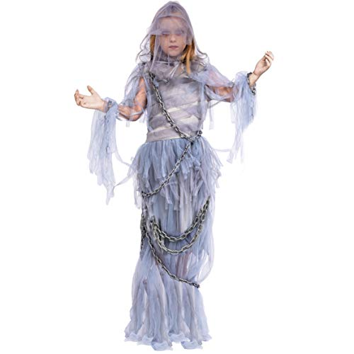 Spooktacular Creations Haunting Beauty Ghost Girl Costume (Medium 7-9) Silver