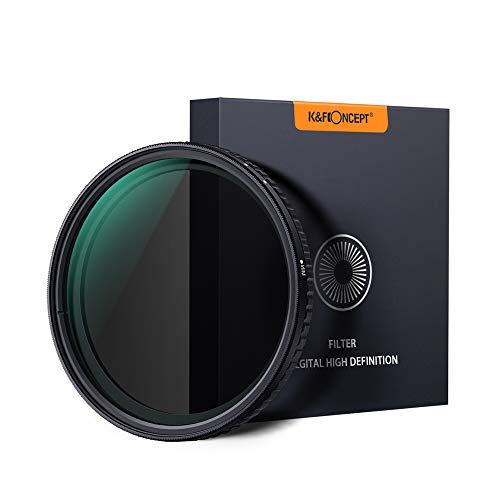 TOPTOO K & F CONCEPT 58mm Fader ND8-ND128 per obiettivo fotografico a focale variabile ND8-ND128 regolabile ultrasottile per fotocamere Nikon Canon Sony