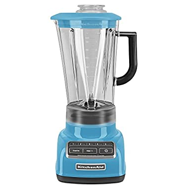 KitchenAid KSB1575CL 5-Speed Diamond Blender with 60-Ounce BPA-Free Pitcher - Crystal Blue