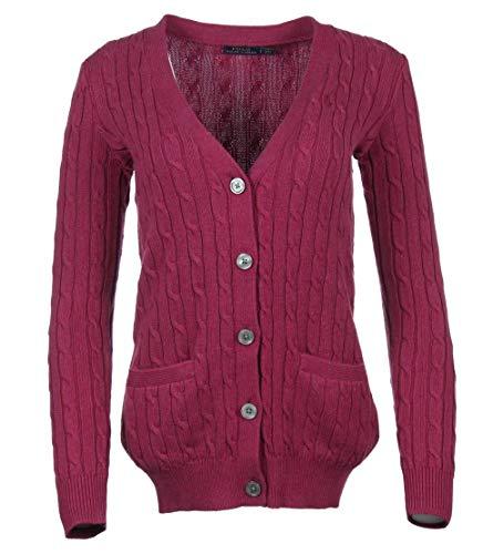 Preisvergleich Produktbild Ralph Lauren Damen Cardigan - Zopfmuster - Pink (S)