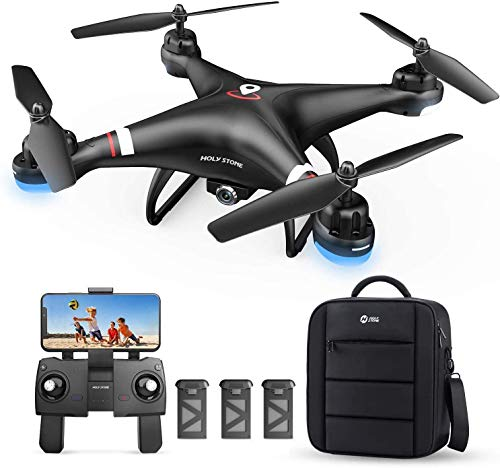 Holy Stone GPS Drone with 1080P HD Camera FPV Live Video for Adults and Kids, HS110G with Carrying Bag, 3 Batteries, Easy for Beginners