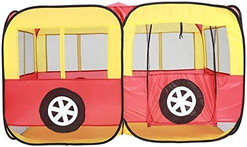 Castillo de juegos infantiles La tienda del juego de Childen de bus tipo plegable portátil de los cabritos de la tienda del juego interior juguete juguetes Playhouse Playhouse for interiores y exterio