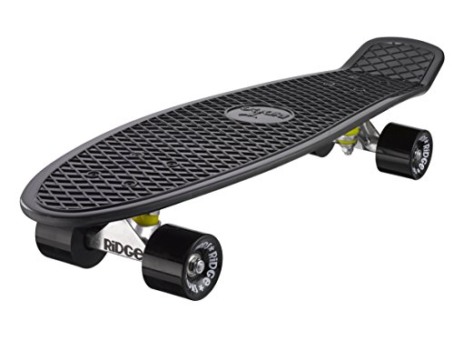 Ridge Skateboard Big Brother Nickel 69 cm Mini Cruiser, schwarz /schwarz
