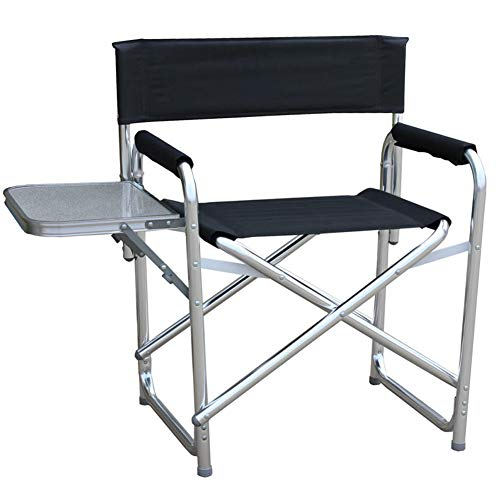 Silla plegable para playa o camping, ligera, portátil + descanso para el almuerzo al aire libre + reclinable fiable, respaldo de malla estable, asiento de viaje para festivales de playa