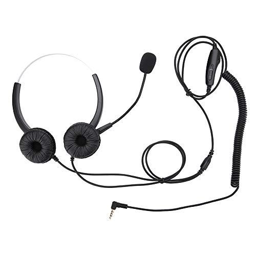 Goick Call Center Headset - Dehnbares Call Center Headset mit geräuschloser Funktion und Lautstärkeregelung für Lautsprecher