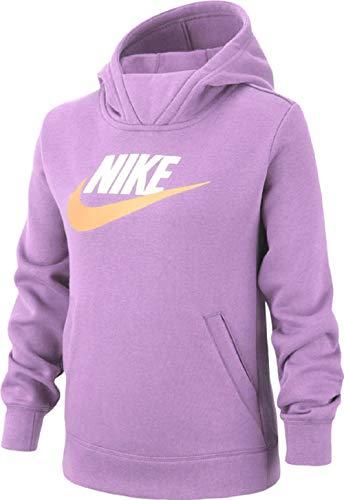NIKE G NSW PE Pullover Sweatshirt, Niñas, Violet Star/ White, XS