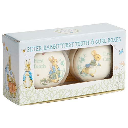 Beatrix Potter Boîte pour dent de Lait et première Boucle de Cheveux Pierre Lapin