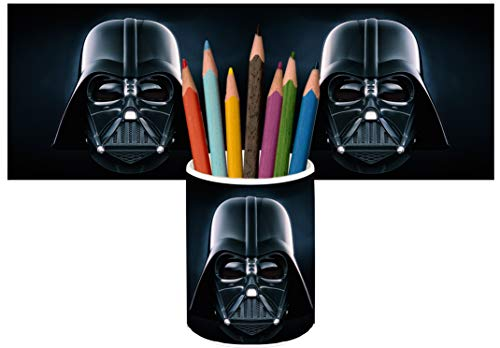 Star Wars Darth Vader Portalápices Vaso Cerámica Pencil Holders Ceramic Glass ✅