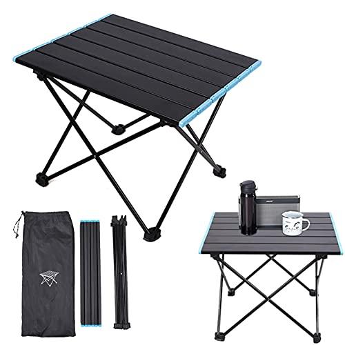 Camping Tisch Alu Klapptisch Grill Tisch Tragbar Balkon Tisch Garden Table Mini Outdoor Tisch Angeltisch Wohnmobiltische für Picknick Camping Strand Balkon (41 * 35 * 30 cm)