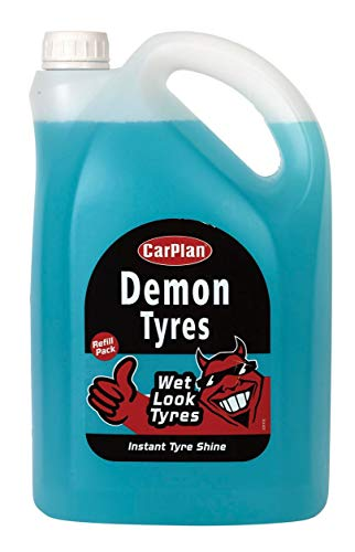 CarPlan Demon Tyres Instant Tyre Shine Cleaner Polisher Wet Look Tyres - REFILL PACK 5 Litre