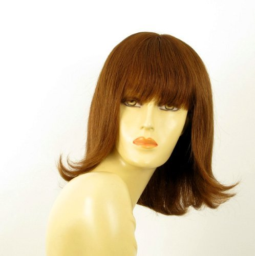 Light wig woman 100% natural long brown hair copper ref TABATA 30 by WIG UNIVERS