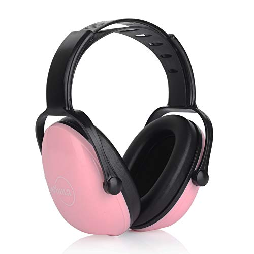 Kids Ear Protection Noise Cancelling Headphones for Toddler, Adjustable Headband Ear Dfenders for Sleeping Studying Shooting Range Hunting Sports, Pink