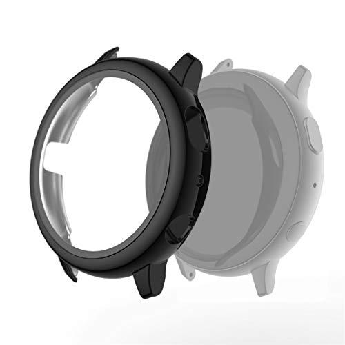 zhangxia caso del reloj para Samsung Galaxy Watch Active 2 40mm Electroplate PC Funda protectora con película de vidrio templado