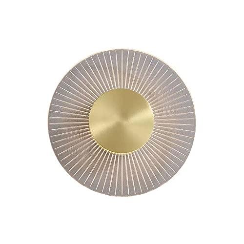 Applique da parete a LED per interni, lampada da parete rotonda in acrilico personalizzata, illuminazione da toeletta con paralume in vetro a bolle, adatta per l'aggiornamento a LED, ideale per camera