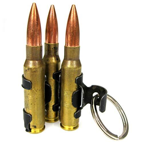 Schlüsselanhänger mit drei MG-Patronen, M60, Patronengurt
