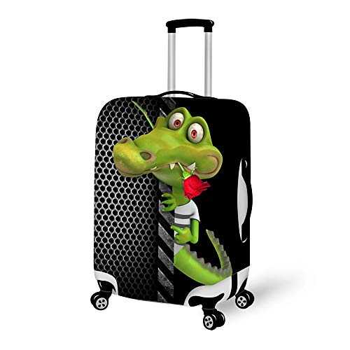 Elastisch Kofferhülle Guckender Tier Kofferschutzhülle Kofferschutz Kofferbezug Gepäck Cover Schutzbezug Luggage Cover Reisekoffer Hülle für 18-28 Zoll Koffer mit Reißverschluss CA4571-28