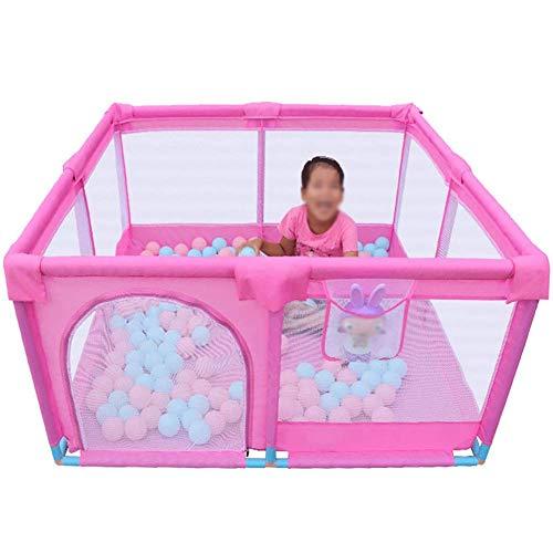 YYAI-HHJU Corralito De Bebé con Colchón Corralito De Bebé Portátil con Ventosa Corralito De Malla Infantil Cuadrado para Niñas Y Niños Parque De Interior
