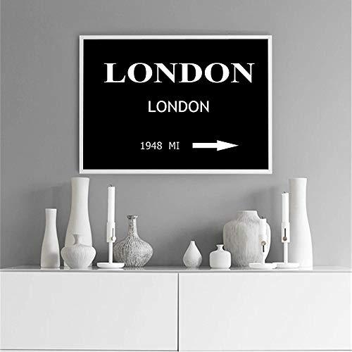 GZSBYJSWZ Arte de Pared Modular Lienzo Pinturas de Londres imágenes Impresiones Cartel nórdico decoración del hogar minimalismo para Sala de Estar sin marco-30x40cm