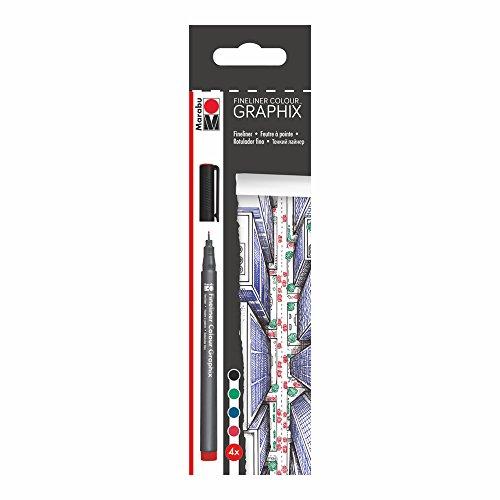 Marabu Creative Graphix Fineliner Pen, Skyline Set of 4 (0146900000102)