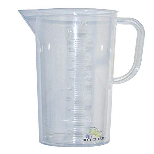 CREATE IT EASY NEU Mischbecher / Rühr- und Messbecher transparent, 1000ml, 1 Stück