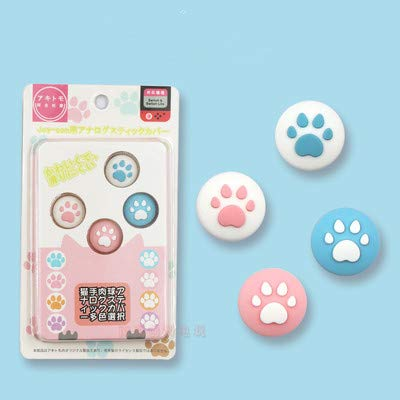 Silicone Cute Thumb Grip Caps Cover Ergonomic Joystick Caps Analog Thumb Stick Caps for Nintendo Switch NS Joy Con/Switch Lite Controller Pink & Blue