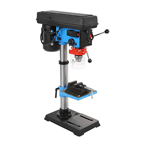 Bench Drill Press Pillar Chuck Top Mounted Table Stand Workbench Tool Repair 9 Speed 16mm Industrial High Precise Hand Adjustable Height Drilling Machine Power 220V 550W