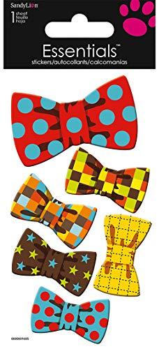 SandyLion Essentials 3D Motiv-Sticker Bow Tie, (Fliege), Motiv: Bunte Fliegen für Männerhemden