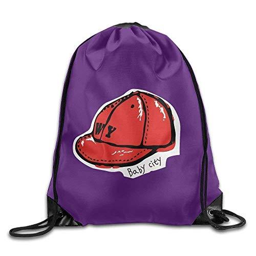 Etryrt Prämie Turnbeutel,Sporttaschen, Drawstring Bag Gym Bag Travel Backpack Cute Red Cap Womens Backpack for Boys Girls Shoulder Bag16.9x14.2