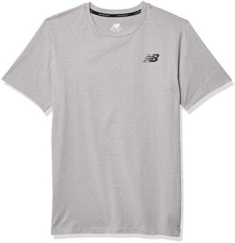 New Balance Heathertech Camiseta de Manga Corta - MT01070