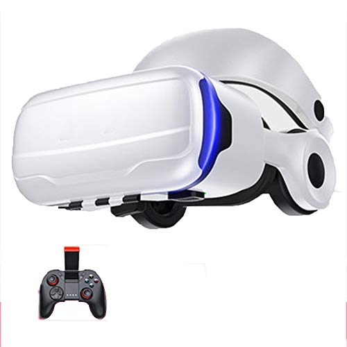 Review 3D VR Glasses, White Plastic (ABS) Virtual Reality Glasses, Game/The Film 4.7-6.0 Inch Smartp...