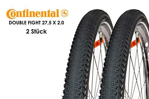 2 Stück Continental Double Fighter 27,5 x 2.0 Fahrrad Reifen 50-584 Drahtreifen Wire Mantel Decke Tire Reflex