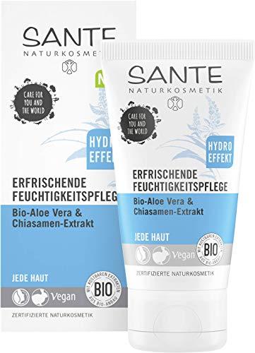 SANTE Naturkosmetik Erfrischende Feuchtigkeitspflege Bio-Aloe Vera & Chiasamen-Extrakt, 50ml