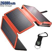 IEsafy YD-820S 26800mAh Portable Solar Power Bank with 2 USB Charging Ports