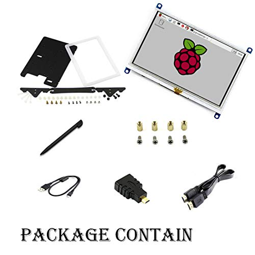 Waveshare Touch Screen 5 inch LCD B HDMI interface 800*480 Resistive with Bicolor case for all Raspberry Pi
